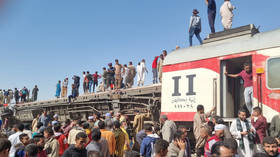 At least 32 dead, 66 injured as two trains crash in southern Egypt