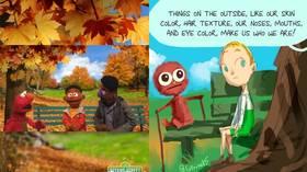 'Color of skin… important'? Instagram censors artist's comic as 'DANGEROUS' for VERBATIM quote of woke 'Sesame Street' episode