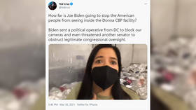 SHOCKING conditions at Biden administration's immigration facility documented by senator as official tries to block camera