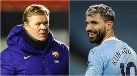 Barcelona boss Koeman 'rules out' move for Aguero despite chance to use Man City star to keep Messi at Camp Nou