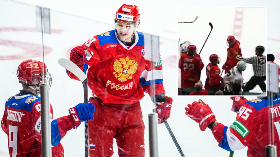 'We did it': Russia stun USA in ice hockey championships comeback – despite losing star after he elbowed opponent in head (VIDEO)