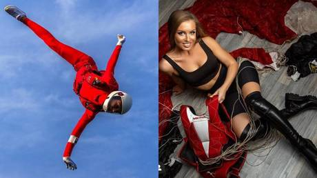 Queen of the sky: Meet Russian skydiving star Anastasia Barannik – who dreams of going to space