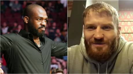 UFC 205 lbs ruler Jan Blachowicz says former champion Jon Jones moved to heavyweight because he knows he would lose in a fight against himself - RT Sport (main); Getty (inset)
