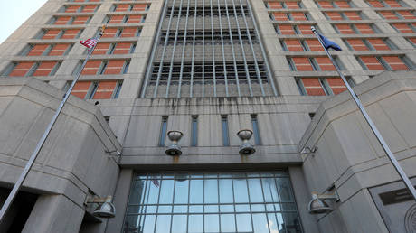 FILE PHOTO: The Metropolitan Detention Center, where Ghislaine Maxwell is held in custody, is pictured in the Brooklyn borough of New York City.
