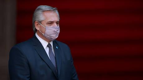 FILE PHOTO. President of Argentina Alberto Fernandez. © Getty Images / Hector Vivas