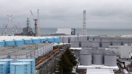 FILE PHOTO. Storage tanks for radioactive water are seen at tsunami-crippled Fukushima Daiichi nuclear power plant.