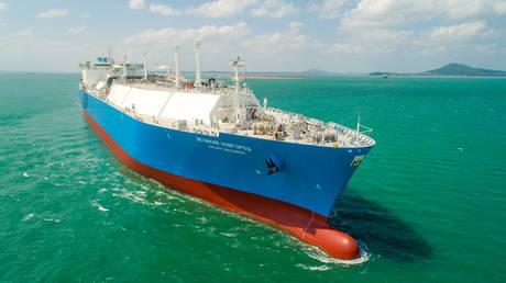 FILE PHOTO: LNG carrier 'Veliky Novgorod' © Gazprom