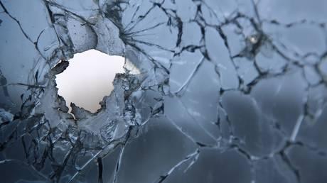 A window broken by a recent shelling is pictured in the village of Vesyoloye (Vesele) in the Donetsk Region, self-proclaimed Donetsk People's Republic, Eastern Ukraine. © Sputnik