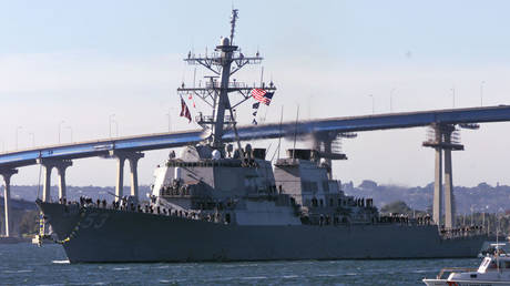 USS John Paul Jones guided missile destroyer © Reuters