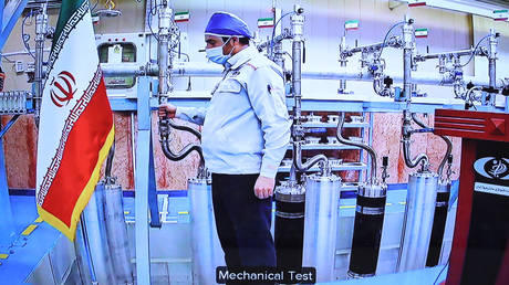 Iran's Natanz uranium enrichment plant on April 10, 2021 © AFP / IRANIAN PRESIDENCY