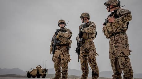 FILE PHOTO: German Bundeswehr soldiers in Masar-i-Scharif, Afghanistan. © Michael Kappeler / Pool via Reuters