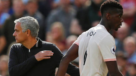 Pogba and Mourinho worked together at United. © Reuters
