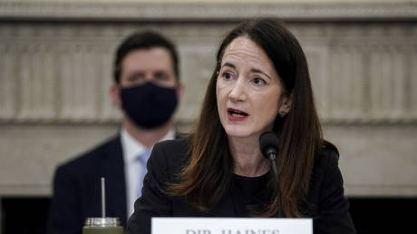 Director of National Intelligence Avril Haines speaks during a House Intelligence Committee hearing on worldwide threats