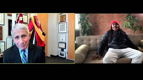 Lynch questioned Fauci over the Covid vaccine. © YouTube @Marshawn Lynch Beast Mode Productions