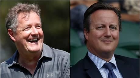 Piers Morgan (L); David Cameron (R) © (L) Simon Dawson / Reuters; (R) Adrian Dennis / AFP