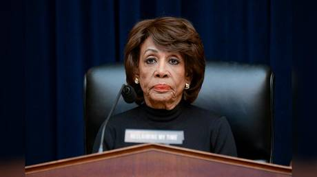 Representative Maxine Waters (D-California) is shown at a House hearing in October 2019.