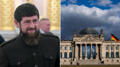 (L) FILE PHOTO. Ramzan Kadyrov © Sputnik; (R) FILE PHOTO. Bundestag © AFP / JOHN MACDOUGALL