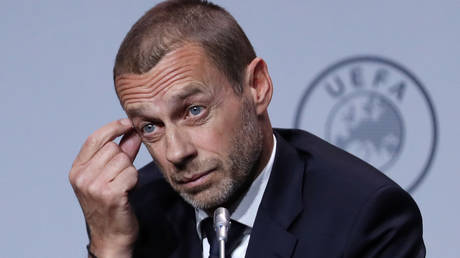 UEFA boss Ceferin has reacted furiously to the European Super League plans. © Reuters
