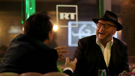 George Galloway during the launch of the RT chat show The Alex Salmond Show, at Millbank Tower in London.