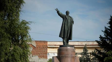 Lenin's statue is seen in Volgograd, Russia, July 21, 2017.