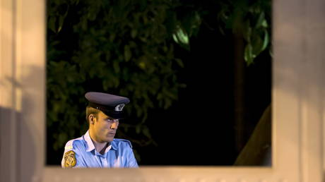 A police officer in Athens, Greece, June 26, 2015