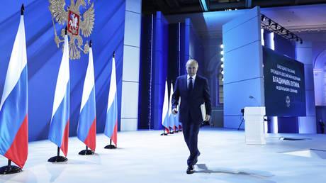 Russian President Vladimir Putin in Moscow, Russia, on 21.04.2021. © Sputnik