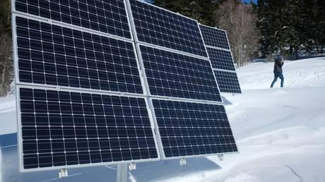 FILE PHOTO. Solar panels on the territory of the Caucasian State Natural Biosphere Reserve, Krasnodar Krai, Russia. © RIA