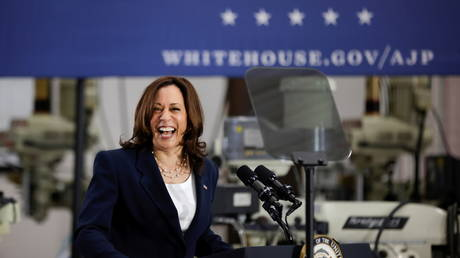 Vice President Kamala Harris is shown during a visit to North Carolina earlier this month.