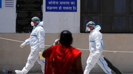 Guru Teg Bahadur Hospital, in New Delhi, India, April 24, 2021. © Reuters / Adnan Abidi