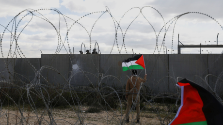 FILE PHOTO. A protest against the Israeli barrier, in the West Bank village of Bilin. ©REUTERS / Mohamad Torokman