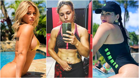 Ekaterina Makarova (center) has joined ex-UFC fighters Paige VanZant (left) and Rachael Ostovich in signing for Bare Knuckle FC © Instagram / paigevanzant | © Instagram / prichudatort © Instagram / rachaelostovich