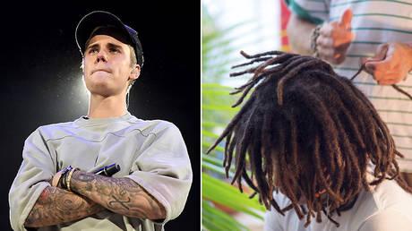 (L) Justin Bieber © imdb.com / Getty Images / Jason Merritt; (R) Dreadlock  © JOHANNES EISELE / AFP