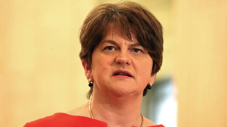 FILE PHOTO: First Minister Arlene Foster of the DUP, Belfast, Northern Ireland, January 13, 2020