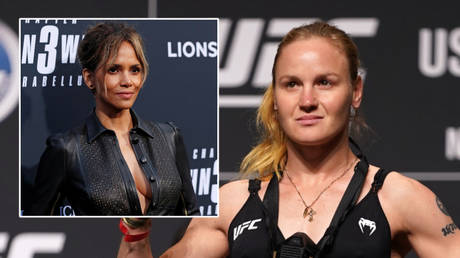 Hollywood actress Halle Berry (left) and UFC fighter Valentina Shevchenko © Mario Anzuoni / Reuters | © Jasen Vinlove / USA Today Sports via Reuters