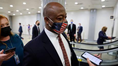 FILE PHOTO. US Senator Tim Scott (R-SC). ©REUTERS / Jonathan Ernst