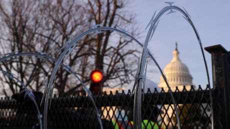 January 6 was invoked to install razor wire-topped fence around the US Capitol and send 25,000 National Guard to occupy DC for Biden's inauguration.