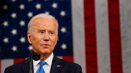 President Joe Biden addresses a joint session of Congress in Washington, U.S., April 28, 2021.
