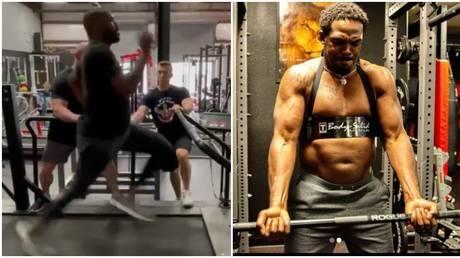 Beefed-up Jon Jones pounds treadmill at 20mph as UFC star warns Ngannou he'll 'run through heavyweights like dominos' (VIDEO)