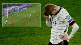 'Embarrassing': Hapless Timo Werner ridiculed for INCREDIBLE MISS as Germany suffer humiliating defeat to Macedonia (VIDEO)