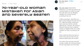 70-year-old woman savagely beaten on LA bus, allegedly because she 'looked Asian,' amid rash of hate crimes in California