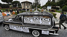 Rome undertakers protest over coffin backlog as city battles to find enough burial plots for Covid dead