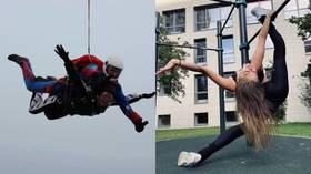 'No words, just emotions': Daredevil Russian gymnastics queen Aleksandra Soldatova thrills with free-fall parachute jump (PHOTOS)