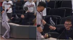 'He never left his seat!' Youngster sends baseball fans wild by effortlessly beating player to viral catch at first game (VIDEO)