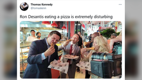 Florida's Ron DeSantis, the Republican governor whom Democrats love to hate, is now triggering leftists with the way he eats pizza