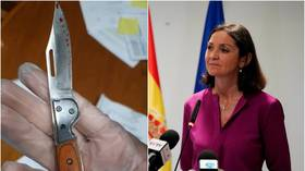 Spanish minister receives package with bloodied knife ahead of election after fellow politicians get death threats and bullets