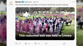 It's all propaganda! Ukrainian diplomats slam Reuters news agency for reporting on costumed ball held to mark spring in Crimea