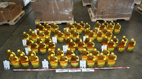 Australian police seize over HALF A TON of liquid meth disguised as cooking oil from Mexico