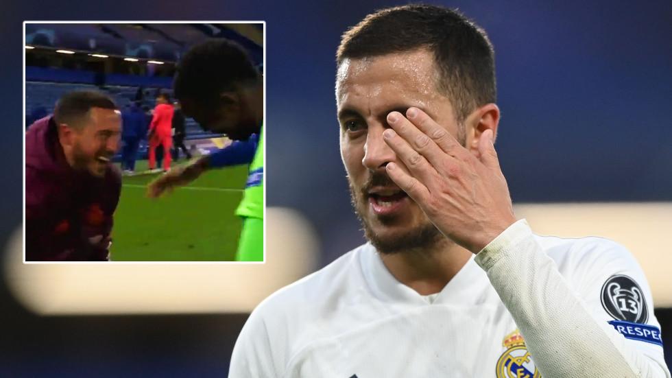 Pardon of Eden? Real Madrid star Hazard apologizes for Chelsea fiasco as goalkeeper Courtois' father slams 'unprofessional' joking