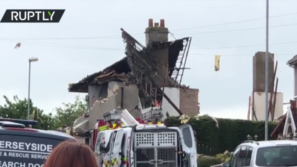 Child killed & several people injured after suspected gas explosion destroys homes in Lancashire