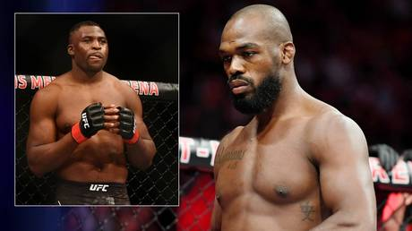 Jon Jones and UFC rival Francis Ngannou continue to exchange online barbs. © USA Today Sports